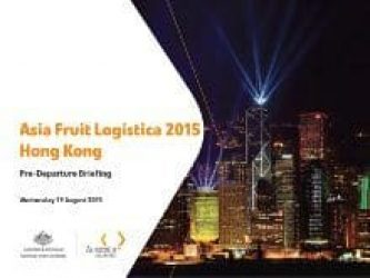 Asia Fruit Logistica 2015 Webinar