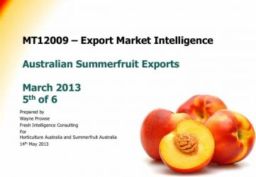 MT12009 – Export Market Intelligence