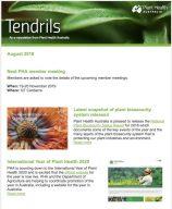 Tendrils Plant Health Australia Newsletter August 2019